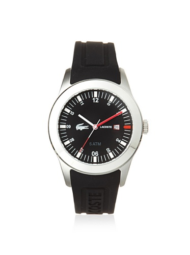 Lacoste Advantage (Lacoste Advantage Black Silicone Mens Watch 2010628)