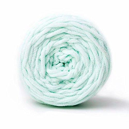 Celine lin One Skein Super Soft Baby Blanket Yarn Big Warm Scarf Yarn Crochet Yarn,Light Mint Green