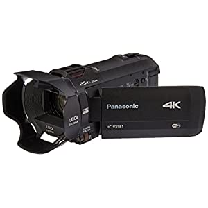PANASONIC HC-VX981K 4K Camcorder, 20X LEICA DICOMAR Lens, 1/2.3 BSI Sensor, 5-Axis Hybrid O.I.S, HDR Mode, WiFi Smartphone Twin Video Capture (USA Black)