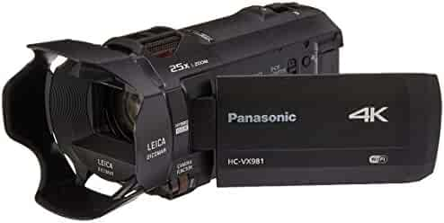 Panasonic 4K Ultra HD Camcorder HC-VX981K, 20X Optical Zoom, 1/2.3-Inch BSI Sensor, HDR Capture, Wi-Fi Smartphone Twin Video Capture (Black, USA)