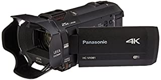 Panasonic 4K Ultra HD Video Camera Camcorder HC-VX981K, 20X Optical Zoom, 1/2.3-Inch BSI Sensor, HDR Capture, Wi-Fi Smartphone Multi Scene Video Capture (Black) (B01A60SYRE) | Amazon price tracker / tracking, Amazon price history charts, Amazon price watches, Amazon price drop alerts