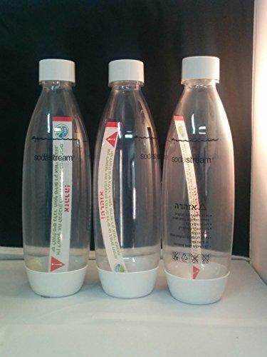 Sodastream Carbonating Bottles, BPA Free, White, 3 pack, 1 (Extra Bottle)