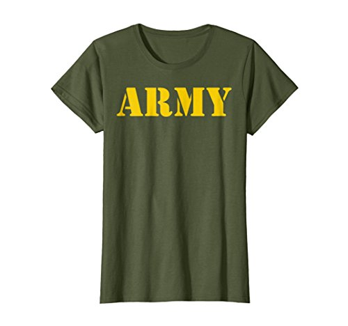 Womens Vintage Army Logo Shirt APFU Workout Tee XL (Green Workout T-shirt)