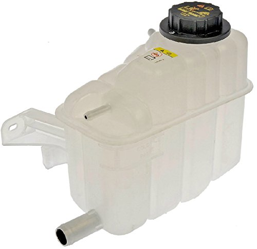 APDTY 714314 Coolant Reservoir Fluid Overflow Bottle Housing & Cap For 00-05 Ford Taurus & Mercury Sable w/ 3.0L OHV Engine; See Description For Details (Replaces 1F1Z 8A080-AA, 9C3Z8101B, F6DZ8100-A)