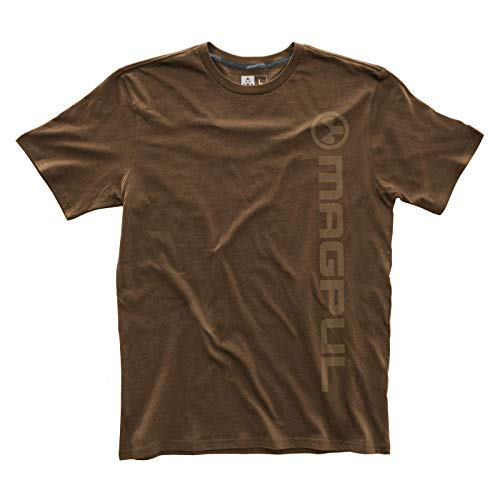 Magpul Men's Fine Cotton Vert Logo T-shirt,  Dark Brown,  X-Large