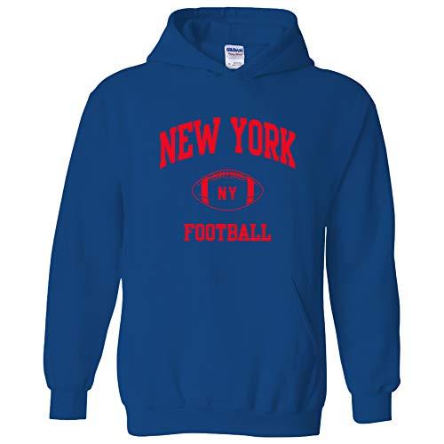 New York Classic Football Arch American Football Team Sports Hoodie - 3X-Large - Royal