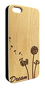 Genuine Maple Wood Organic Dandelion Flower Dream Snap-On Cover Hard Case for iPhone 6
