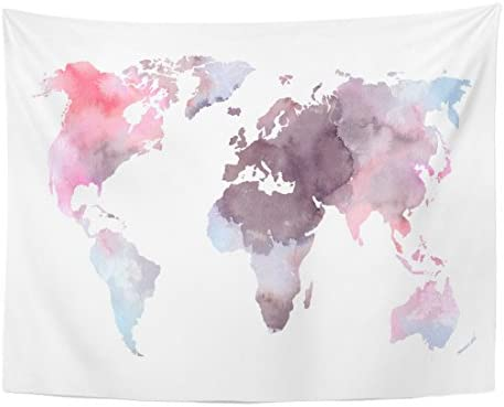 Emvency Tapestry Colorful Watercolor Watercolour product image