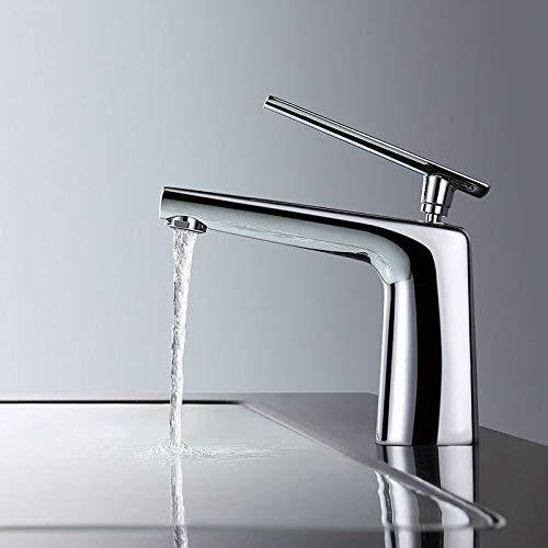 JingJingnet asinミキサータップathroomシンクの蛇口銅の湯沸かし器および冷たい盆地の蛇口、シングルホールシングルハンドル盆地浴室の蛇口、 (Color : C) B07RJF7L38 C