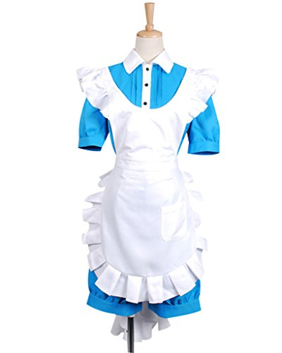 FancyStyle Black Butler Cosplay Ciel Costume Maid Dress Blue Female S