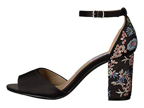 Steve Madden Women S Delilah Black Satin Sandal Frenzystyle