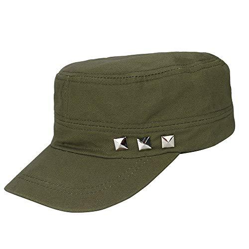 TANGSen Unisex Adjustable Classic Plain Vintage Army Military Cadet Cotton  Cap C.. 2170e256b60a
