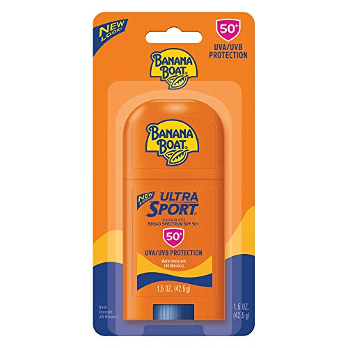 - Banana Boat Ultra Sport Sunscreen Stick, New Look, SPF 50+, 1.5 oz