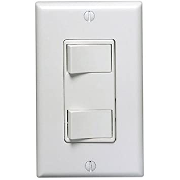 Leviton 1754 w decora dual rocker combination switch white wall leviton 1754 w decora dual rocker combination switch white wall light switches amazon aloadofball