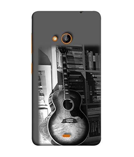PrintVisa Designer Back Case Cover for Nokia Lumia 730  big guitar classical books image