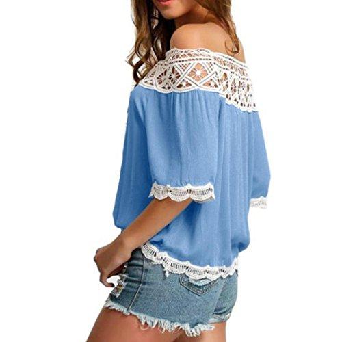 T lunghe LILICAT Maniche Blue Donna Moda shirt RIxSd4