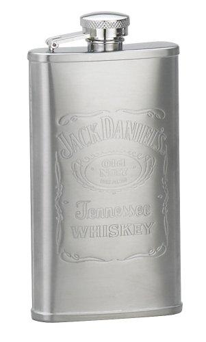 Jack Daniels Licensed Barware 8505 Label Flask, 5 oz, Silver ()