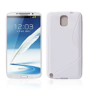 Best Smart Samsung Glaxay Note 3 White Silicone Gel S Line Grip Case Cover For Samsung Glaxay Note 3 By G4GADGET®