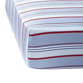 Blue Red Club Stripe Crib Sheet