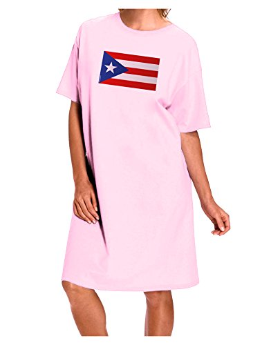 Puerto Rico Flag Dress (TooLoud Puerto Rico Flag Adult Night Shirt Dress - Pink - One Size)