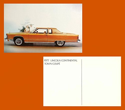 1977 LINCOLN CONTINENTAL TOWN COUPE VINTAGE COLOR POSTCARD - USA - BEAUTIFUL ORIGINAL POST CARD !!