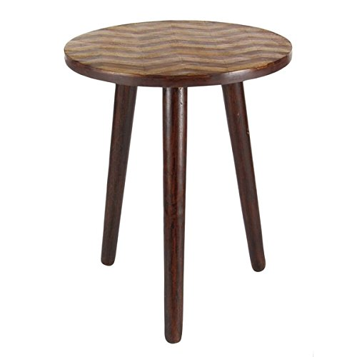 Studio 350 Wood Rd Accent Table 18 inches wide, 22 inches high by Studio 350
