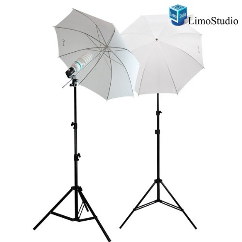 Photography 840W Daylight Studio Lighting Kit, 33'' White Umbrella, 6500K, LimoStudio, LMS293