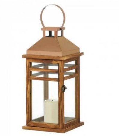 SKB Family Contemporary Rose Gold Top Lantern home decor steel by SKB Family1-01-727772