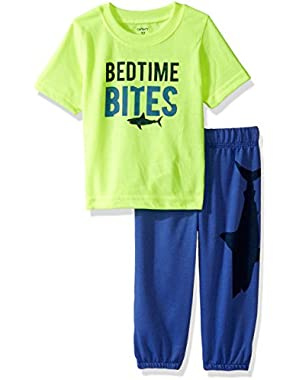 Carter's Baby Boys' 2 Piece Pant PJ Set (Baby) - Bedtime Bites - 12 Months
