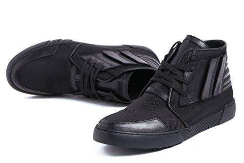 Lace Boots Insun Men's Black Up Leather Casual Chukka wBtYB