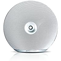 Pure Acoustics Halo Portable Wireless Bluetooth Speaker 10W Output Power, 8 Hours of Play White