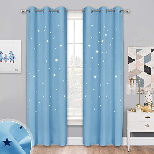 NICETOWN Star Curtain Set for Kids Room, 42