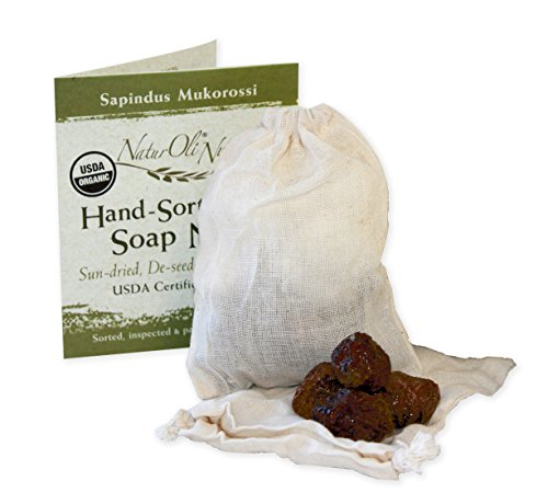 NaturOli Soap Nuts/Soap Berries. 23+ Loads! - USDA Organic Laundry soap, Natural Detergent & Cleaner. Select seedless. Heavy-Duty wash Bag + 8-pg info & instr. (Homemade Laundry Detergent For High Efficiency Washers)