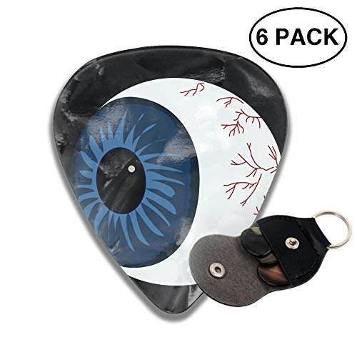 Guitar Picks 2-side Halloween Eyeball On Black Printed, -