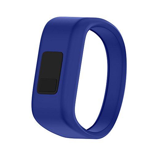 ANCOOL Compatible with Garmin Vivofit JR Bands, Soft Kids Wristbands Replacement for Vivofit JR/Vivofit JR2/Vivofit 3 Tracker (Royal Blue, Small)