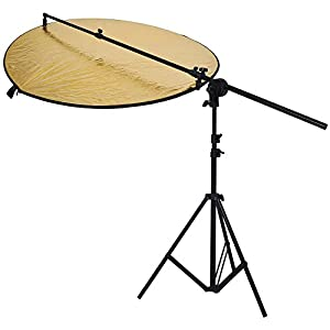"Neewer Photo Studio Bracket Grip Holder 24""-47""/60-120cm Swivel Head Reflector Arm Support + 6Ft/75"" Photography Light Stand"