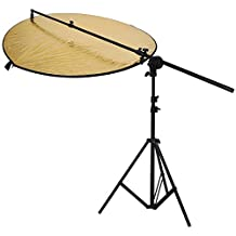 "Neewer® Photo Studio Reflector Kit,Include:(1)43""/ 110cm 5-in-1 Collapsible Multi-Disc Light Reflector+(1)Bracket Grip Holder 24""-47""/60-120cm Swivel Head Reflector Arm Support +(1)6 Feet/75"" 190cm Photography Light Stand"