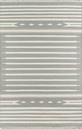 (Erin Gates by Momeni Thompson Billings Grey Hand Woven Wool Area Rug 5' X)