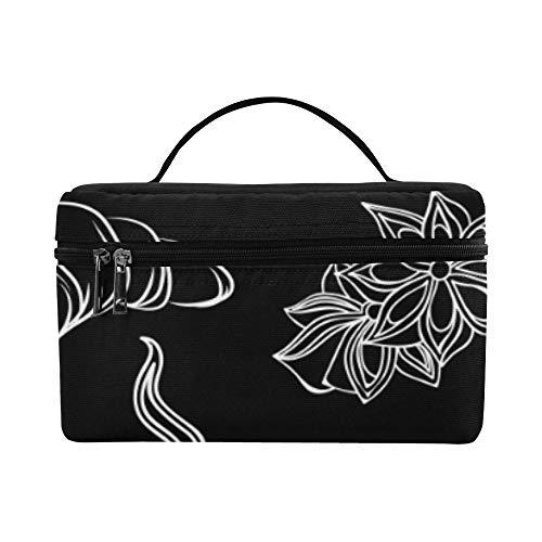 - Toiletry Bags Durable Cosmetic Bags Croissants Delicious Big Bag Cosmetic School Makeup Organizer Work For Girls Bag Makeup