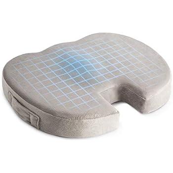 Amazon.com: 100% látex natural cojín de asiento con cubierta ...