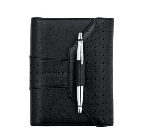 Cross 2012 edition Full Grain Italian Pebbled Autocross Leather, Pocket Agenda Calendar, Black (AC234-9)