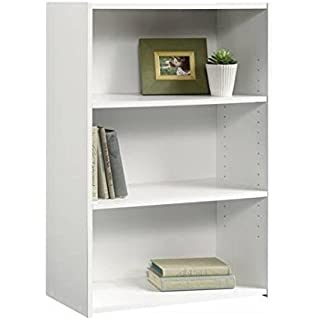 Sauder Beginnings 3-Shelf Bookcase, Soft White