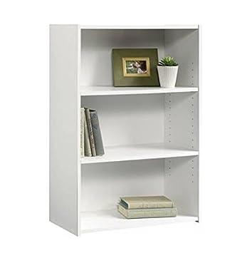 Sauder Beginnings 3-Shelf Bookcase, Soft White