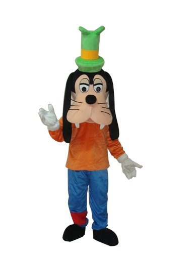 Goofy Adult Costumes (Goofy Mascot Costume Adult Size For Boy/ Girl Birthday Party or Events Halloween Cosplay)