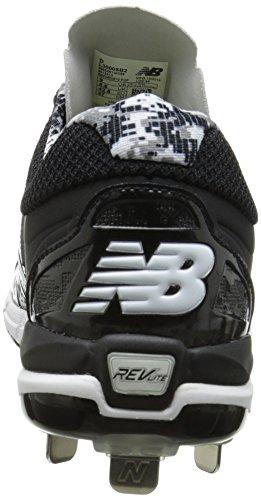 New Balance hombres del l3000V2Metal bajo zapato de béisbol Negro