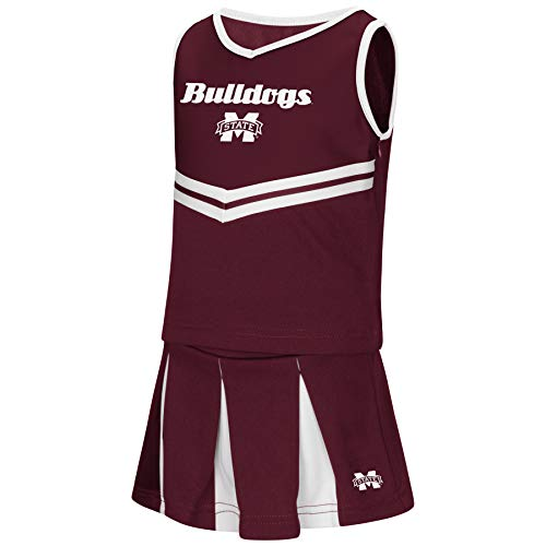 Colosseum NCAA Toddler-Girls Team Cheer Set-Mississippi State Bulldogs-3T