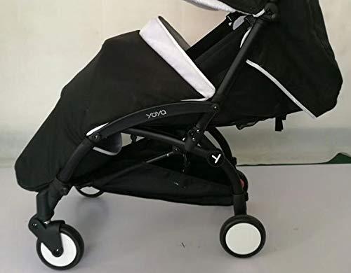Saco para cochecito largo/cobertura para pie/protección contra la lluvia y viento - apto para silla de paseo YOYO y baby yoya (color: negro/blanco cálido ...