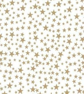 (Gold Stars On White Background Tissue Paper - 20in.x30in. - 20 sheets)