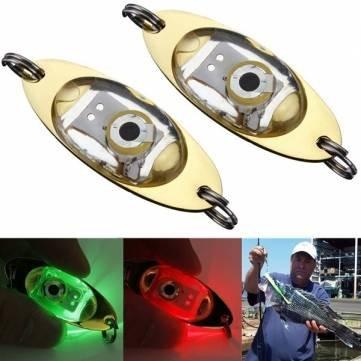 LEDライト餌DeepドロップUnderwater点滅ランプメタルライト餌 B00VQG0GBU