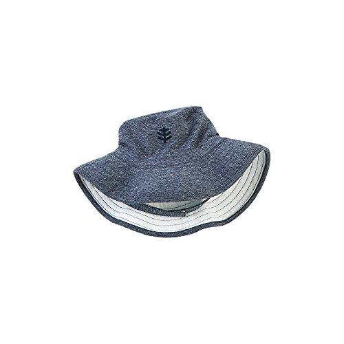 Coolibar UPF 50+ Baby Beach Bucket Hat - UV Swimwear (One Size - Navy Heather)